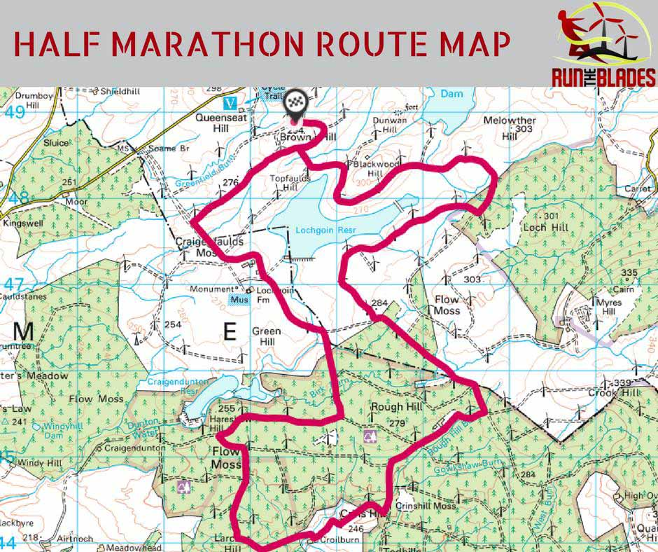 Run the Blades half marathon route